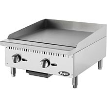 "Atosa CookRite ATMG-24 24"" Gas Griddle, Countertop, Manual Controls - 60,000 BTU"