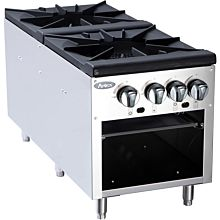 "Atosa CookRite ATSP-18-2 18"" Gas 4 Burner Double Stock Pot Stove - 160,000 BTU"