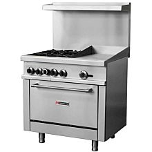 "CR36-12G 36"" 4 Burner Gas Range with 12"" Right Side Griddle and Standard Oven - (171,000 BTU)"