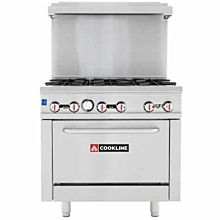 6 burner commercial range