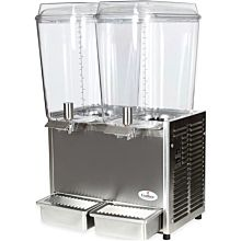 "Crathco D25-3 17.5"" Pre-Mix Cold Beverage Dispenser w/ (2) 5 gal Bowls & Stainless Side Panels, 115v"