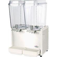 """Crathco D25-4 17.5"""" Pre-Mix Cold Beverage Dispenser w/ (2) 5 gal Bowls & Plastic Side Panels, 115v"""