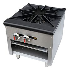 "CSP1 18"" Single Burner Countertop Gas Stock Pot Range"
