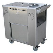 "Global CT-02 27"" Commercial Stainless Steel Steamer Trolley"