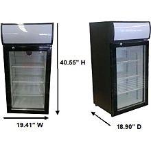 Beverage Air CTR3-1-B 1 Door Countertop Merchandising Refrigerator