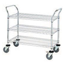 "Global CUC1824 24"" Commercial Chrome Wire Utility Cart"