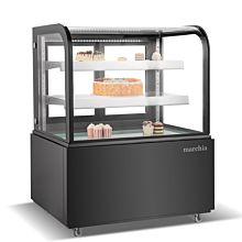 Black refrigerated bakery display case
