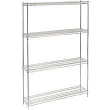 """14"""" x 48"""" Chrome Wire Shelving Kit, 4-Shelf, NSF Listed"""