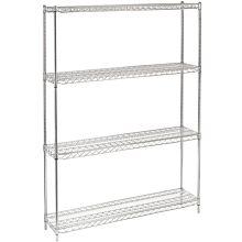 """14"""" x 54"""" Chrome Wire Shelving Kit, 4-Shelf, NSF Listed"""