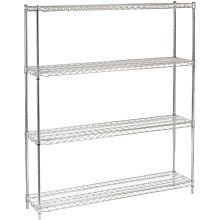 """14"""" x 60"""" Chrome Wire Shelving Kit, 4-Shelf, NSF Listed"""