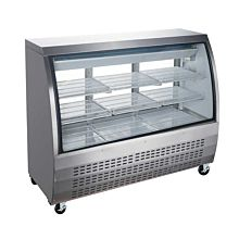 """Coldline DC64-SS 64"""" Refrigerated Curved Glass Deli Meat Display Case, Stainless Steel"""