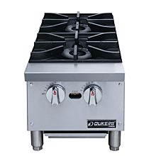 Dukers DCHPA12 Hot Plate with 2 Burners