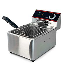 "10"" Single Tank 15 lb. Electric Countertop Fryer, 220v"
