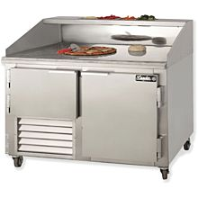 "Leader DR48 48"" Pizza Prep Refrigerator with 1 Full and 1 Half Door"