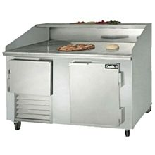 "Leader DR60 60"" Pizza Prep Refrigerator with 1 Full and 1 Half Door"