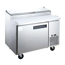"Dukers DPP44-6-S1 44"" Commercial Single Door Pizza Prep Table Refrigerator - 9.9 Cu. Ft."