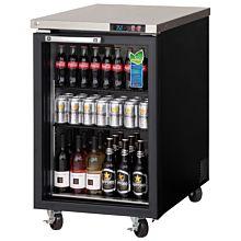 "Everest EBB23G 24"" One Glass Swing Door Back Bar Refrigerator"