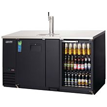 """Everest EBD3-BBG 68"""" Two Solid and Glass Combo Swing Door Direct Draw Keg Refrigerator"""