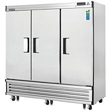"""Everest EBF3 75"""" Three Section Solid Swing Door Bottom Mounted Upright Reach-In Freezer, 71 Cu. Ft."""