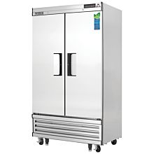 """Everest EBNF2 39"""" Two Section Solid Swing Door Bottom Mounted Upright Reach-In Freezer, 33 Cu. Ft."""