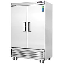"""Everest EBSF2 50"""" Two Section Solid Swing Door Bottom Mounted Upright Reach-In Freezer, 48 Cu. Ft."""
