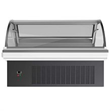 Curved glass lift up lid deli case