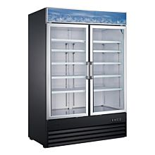 "Universal EGDMF-50B 48"" Black Two Glass Swing Door Reach-In Freezer"