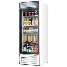 """Everest EMGR10 24"""" White One Section Glass Swing Door Bottom Mounted Merchandisers Refrigerator, 10 Cu. Ft."""