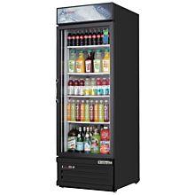 "Everest EMGR10B 24"" Black One Section Glass Swing Door Bottom Mounted Merchandisers Refrigerator, 10 Cu. Ft."