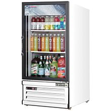 """Everest EMGR8 24"""" White One Section Glass Swing Door Bottom Mounted Merchandisers Refrigerator, 8 Cu. Ft."""