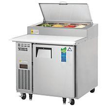"Everest  EPPR1 35"" Single Door Pizza Prep Table Refrigerator"