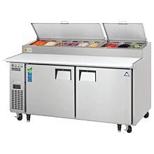 "Everest EPPR2 71"" Two Door Pizza Prep Table Refrigerator"