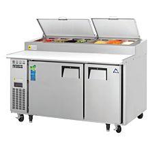 "Everest EPPSR2 59"" Two Door Pizza Prep Table Refrigerator"