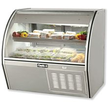 """Leader ERCD48 48"""" Refrigerated Curved Glass Deli Display Case with 1 Shelf, Counter Height, ETL-S"""