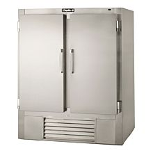 "Leader ESFR54 54"" 2 Solid Door Reach-In Freezer, Stainless Steel, ETL-S"