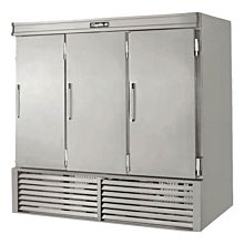 "Leader ESFR79 79"" 3 Solid Door Reach-In Freezer, Stainless Steel, ETL-S"
