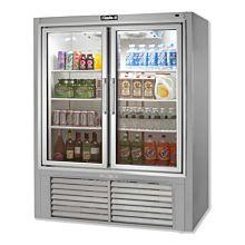 """Leader ESPF54-OS 54"""" 2 Swing Glass Door Merchandiser Freezer, Stainless Steel (NEW UNUSED OVERSTOCK)"""