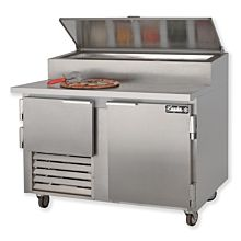 "Leader ESPT48 48"" Pizza Prep Refrigerator with 1 Full and 1 Half Door"
