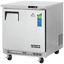 "Everest ETBR1 27"" Single Solid Door Back Mount-Undercounter Refrigerator"