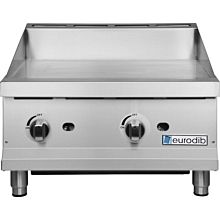 Eurodib G24 24 inch Gas Countertop Griddle with Manual Controls - 60,000 BTU