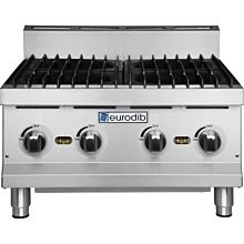 Eurodib HP424 24 inch Four Burner Gas Countertop Range - 120,000 BTU