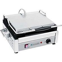 "Eurodib SFE02340-120 - Panini Machine, single, all sides flat, 10"" x 15"" heavy duty cast iron cooking plate"