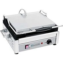 "Eurodib SFE02340-240 - Panini Machine, single, all sides flat, 10"" x 15"" heavy duty cast iron cooking plate"