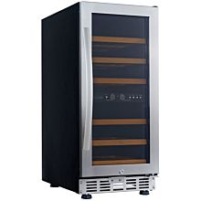 Eurodib USF33D 1 Swing Glass Door Wine Serving & Aging Cabinet, Dual Temperature, 6 Shelves