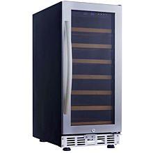 Eurodib USF33S 1 Swing Glass Door Wine Serving & Aging Cabinet, Single Temperature, 7 Shelves