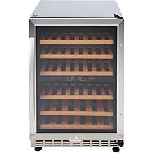 Eurodib USF54D 1 Swing Glass Door Wine Serving & Aging Cabinet, Dual Temperature, 6 Shelves