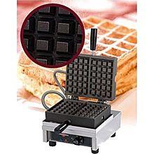 Eurodib Weccbcas, Belgian Waffle Maker, Single W/ 90 Opening, (2) 4 Inch X 6 Inch Capacity