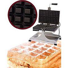 Eurodib Weccbeat, Belgian Waffle Maker, Swivel, (4) 4  6 Waffle Capacity