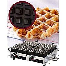 """Eurodib Wecchbat, Lige Waffle Maker, Double W/ 180 Opening, (4) 4"""" X 7"""" Capacity"""