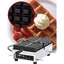 Eurodib Wecdaaas, Belgian Waffle Maker, Single W/ 180 Opening, (2) 3 Inch X 5 Inch Capacity